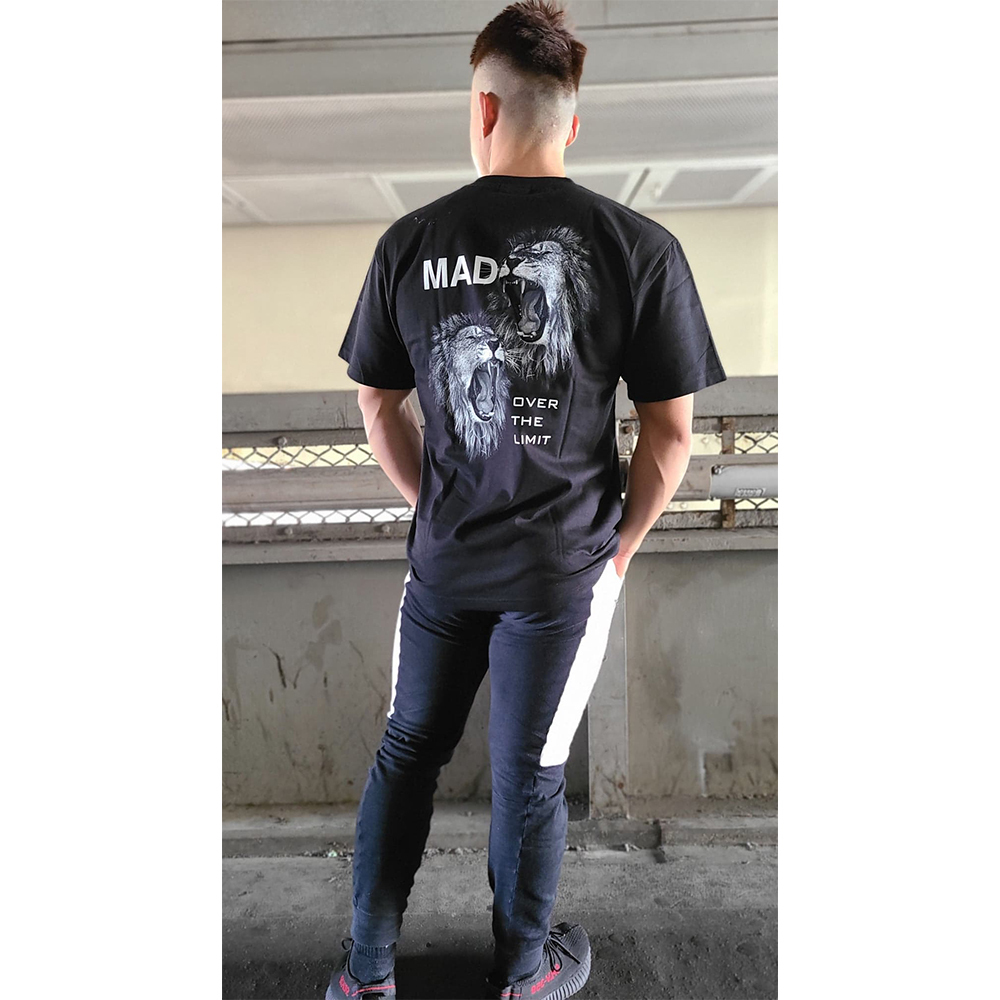 MAD TEE (BLACK)[XAI-0032]