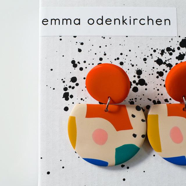 "Studio Emma Odenkirchen ""COCO COLLAGE EARRINGS BEIGE"" ピアス"