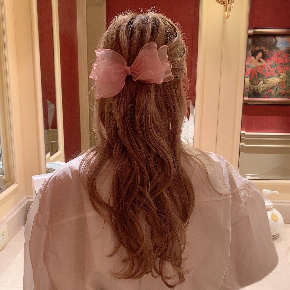 tulle ribbon hair clip