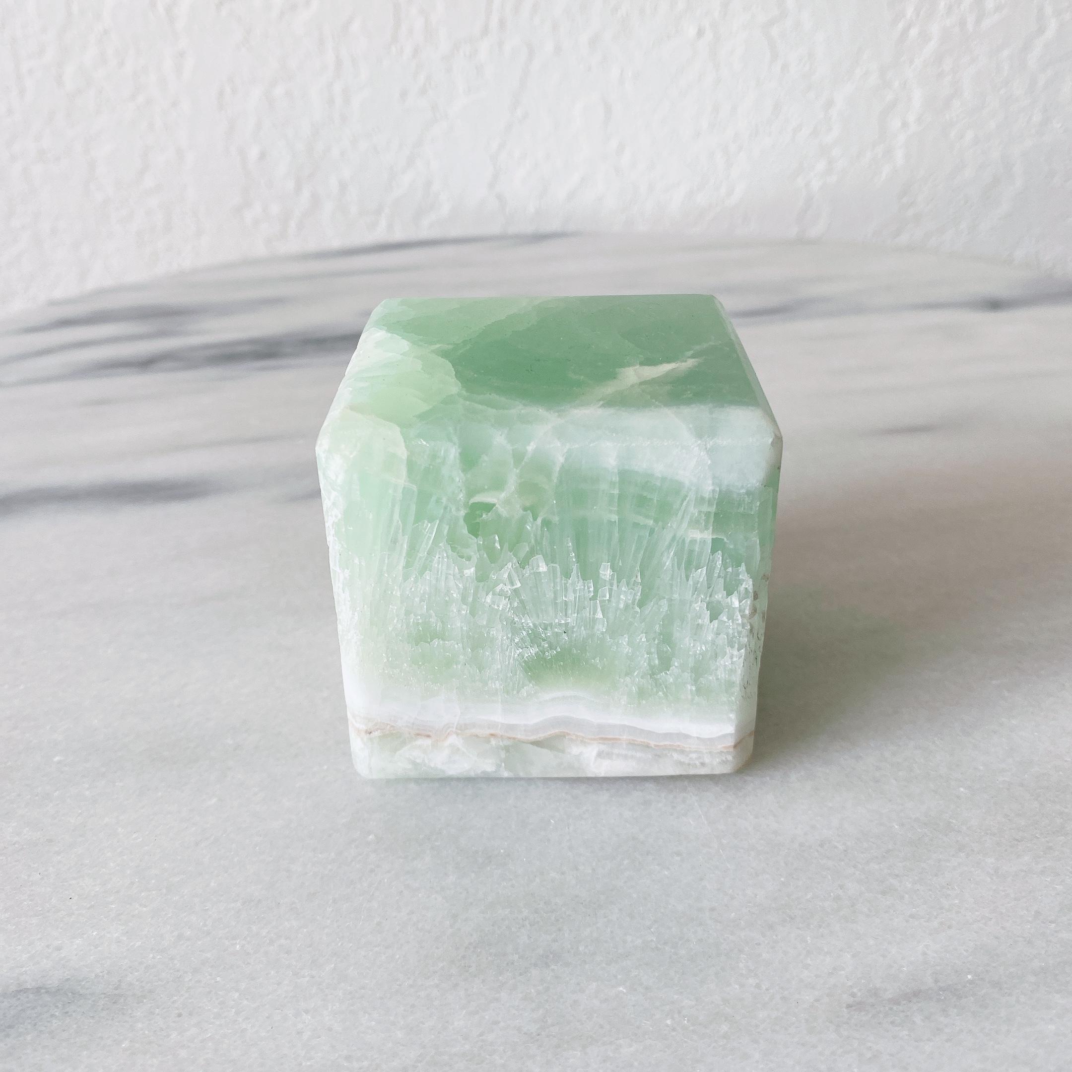 ピスタチオカルサイト 立方体キューブ CUBE Large 美品