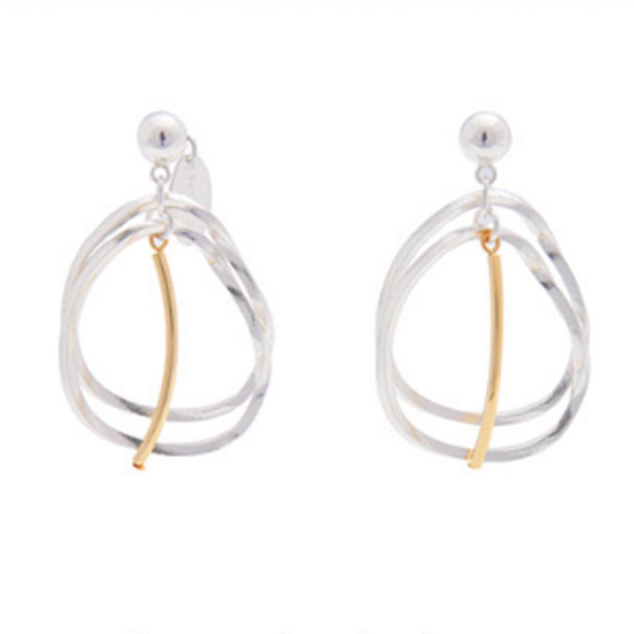 Sead's Mara/シーズマーラ Layered twist hoop earring・pierce 21A3-53