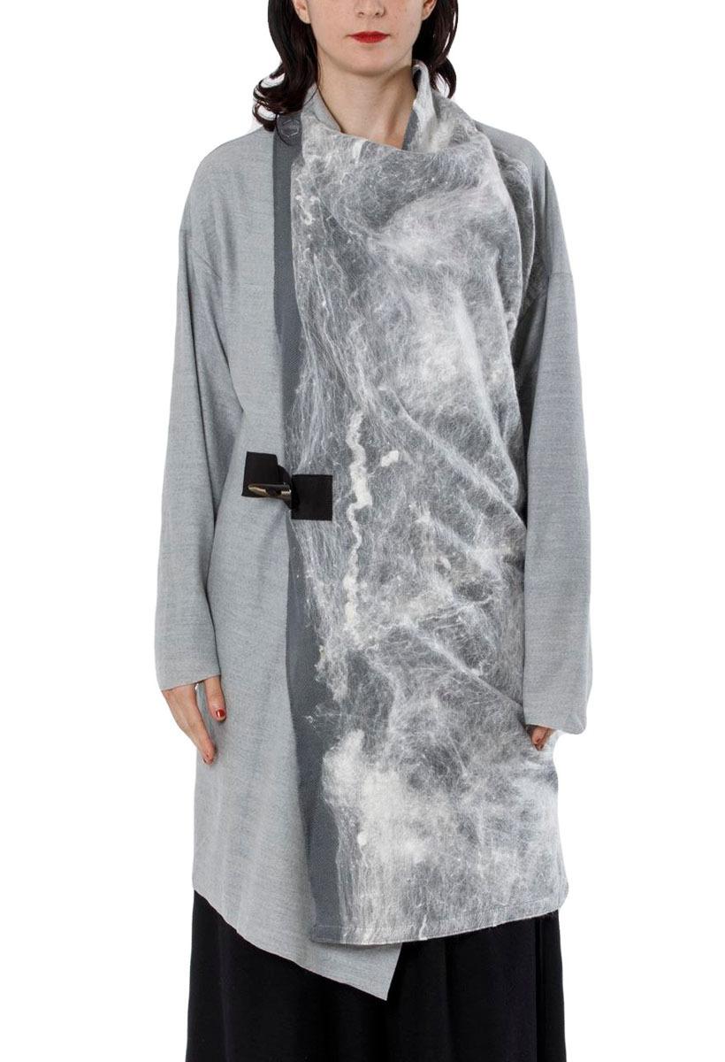 [着るアート /コートストール]シルク×ウール:COAT/STOLE コートストール ニードルパンチウール[登録意匠]2105[税/送料込][受注生産]