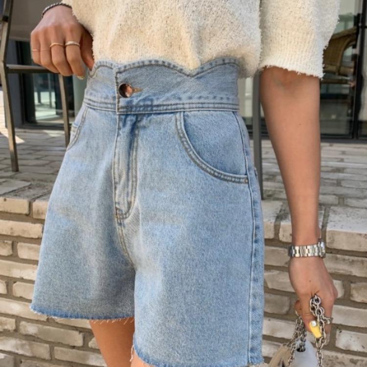 waist wave short pants [2105-34]