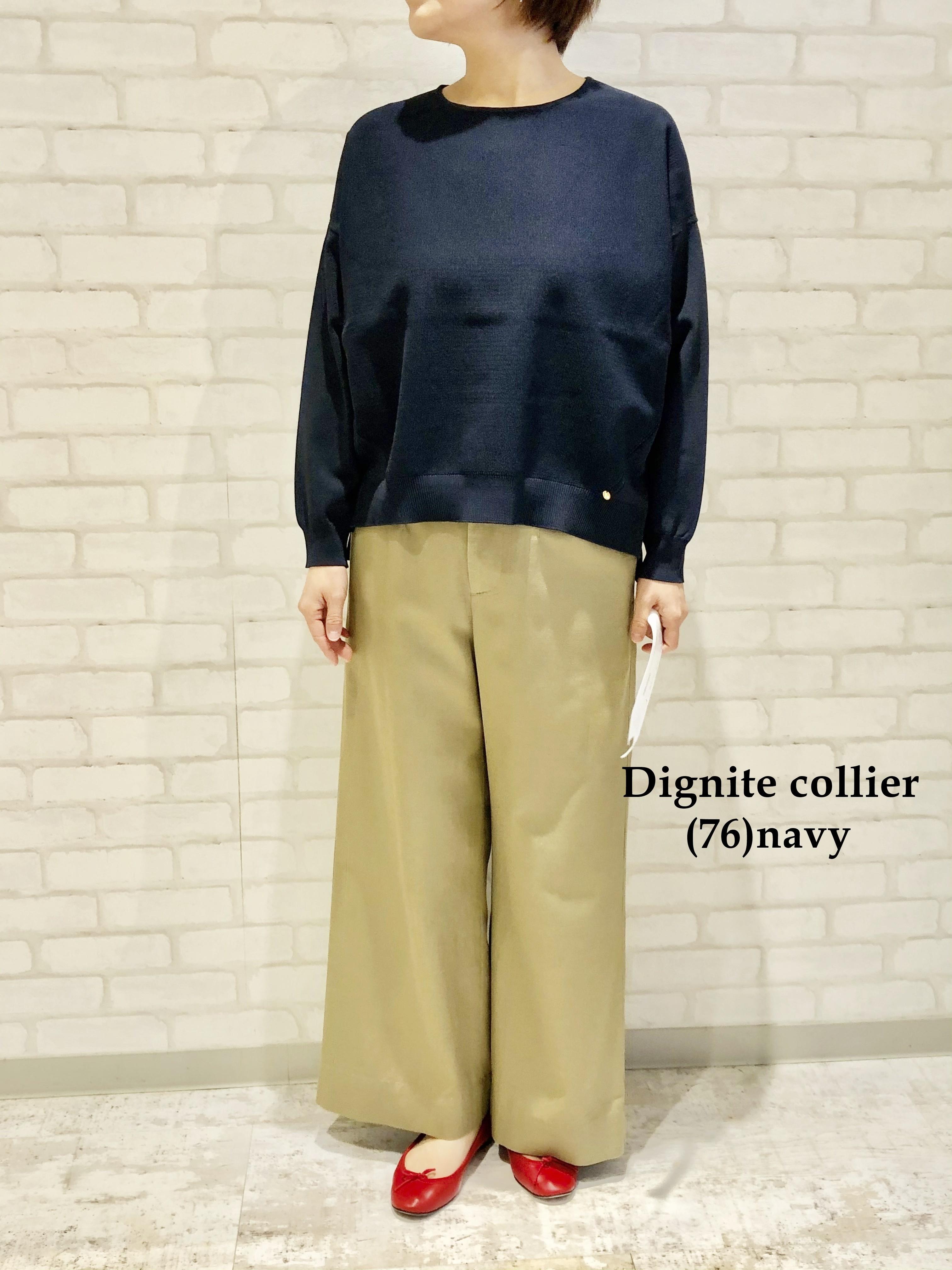 Dignite Collier/ウォッシャブルニット(クルーネック)/LC-801102