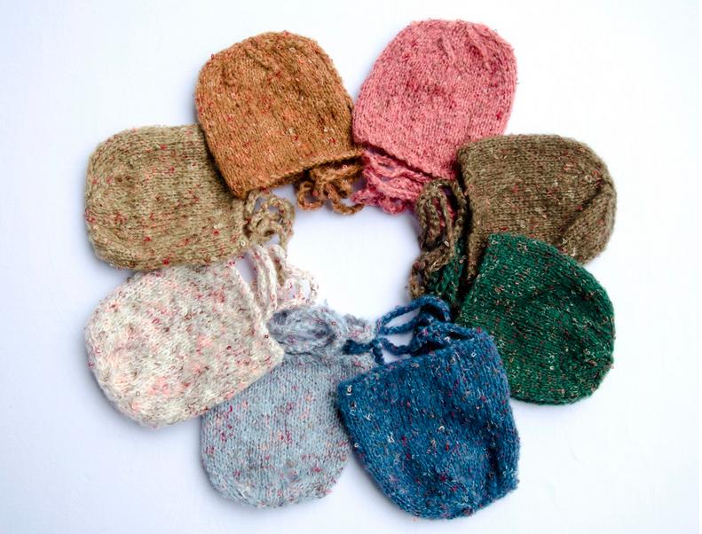 混合カラー毛糸可愛い♡winter帽子/8カラー
