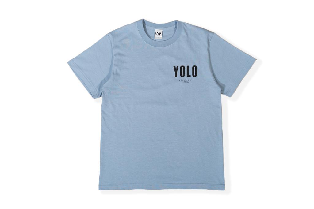 【YOLO surf T-shirt】/ dusty blue