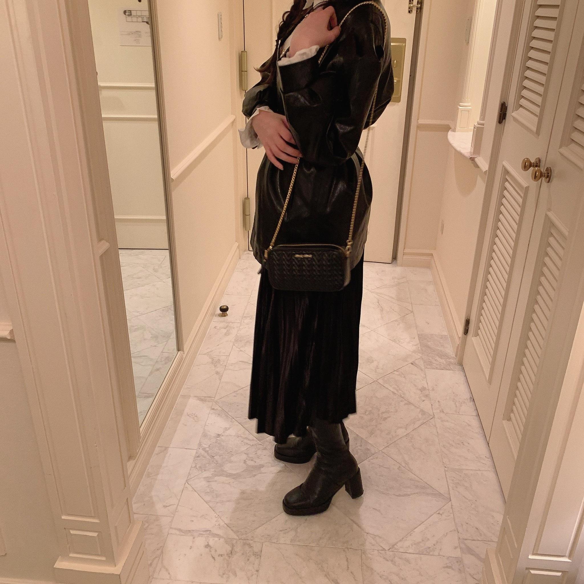 glossy skirt