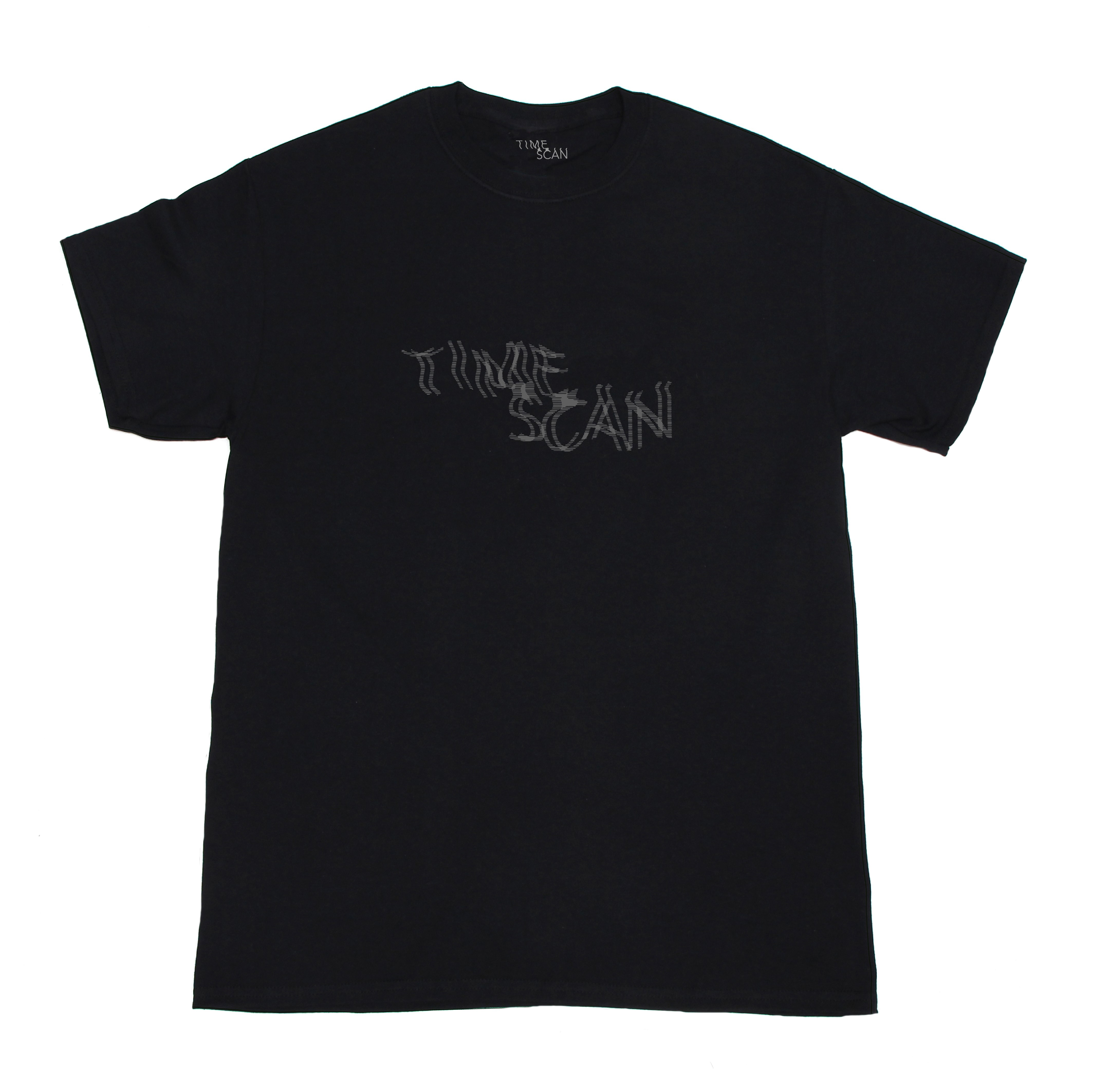 TIME SCAN【REFLECTOR TEE - BLACK】