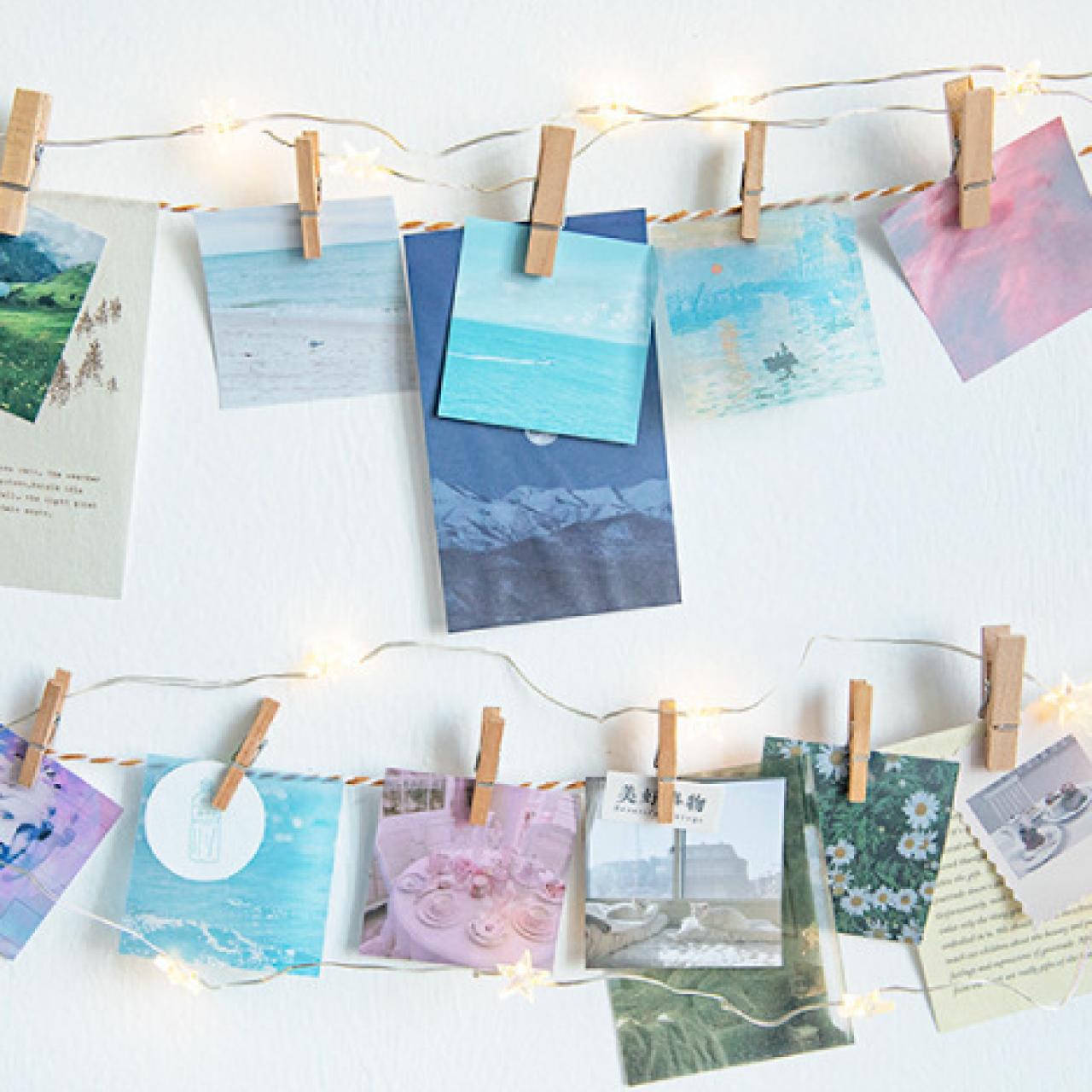 E11 風景画 全8種 紙もの 硫酸紙 海 森林 月 山 宇宙 コラージュ ほぼ日手帳 海外製 素敵便 交換便 ミニサイズ