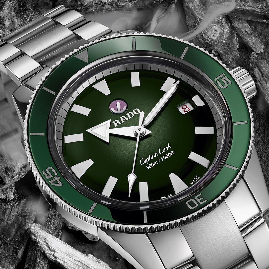 【RADO ラドー】Captain Cook キャプテンクック ブレスレット(グリーン)/国内正規品 腕時計