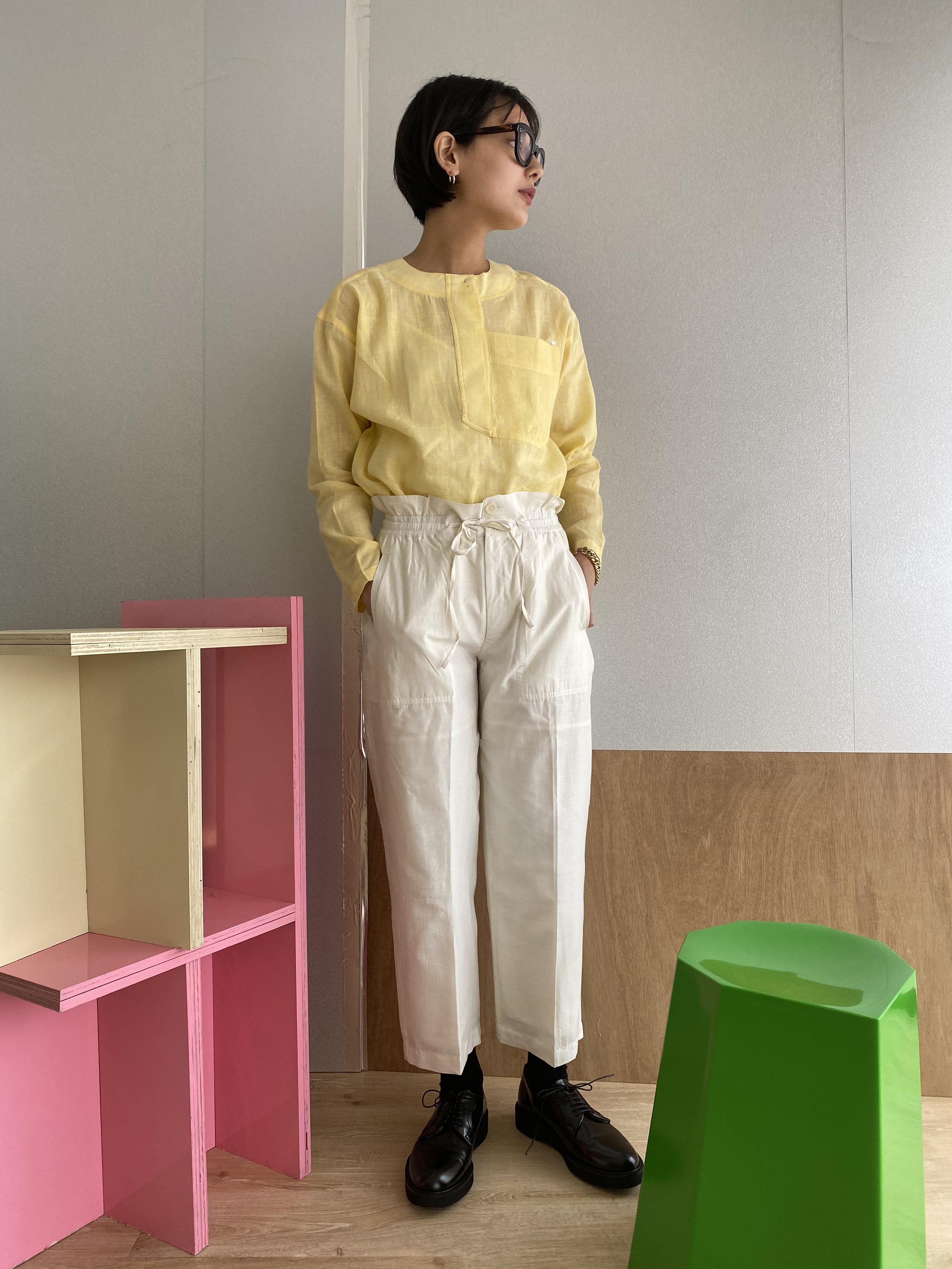 "Wide trousers ""white"" silk cotton"