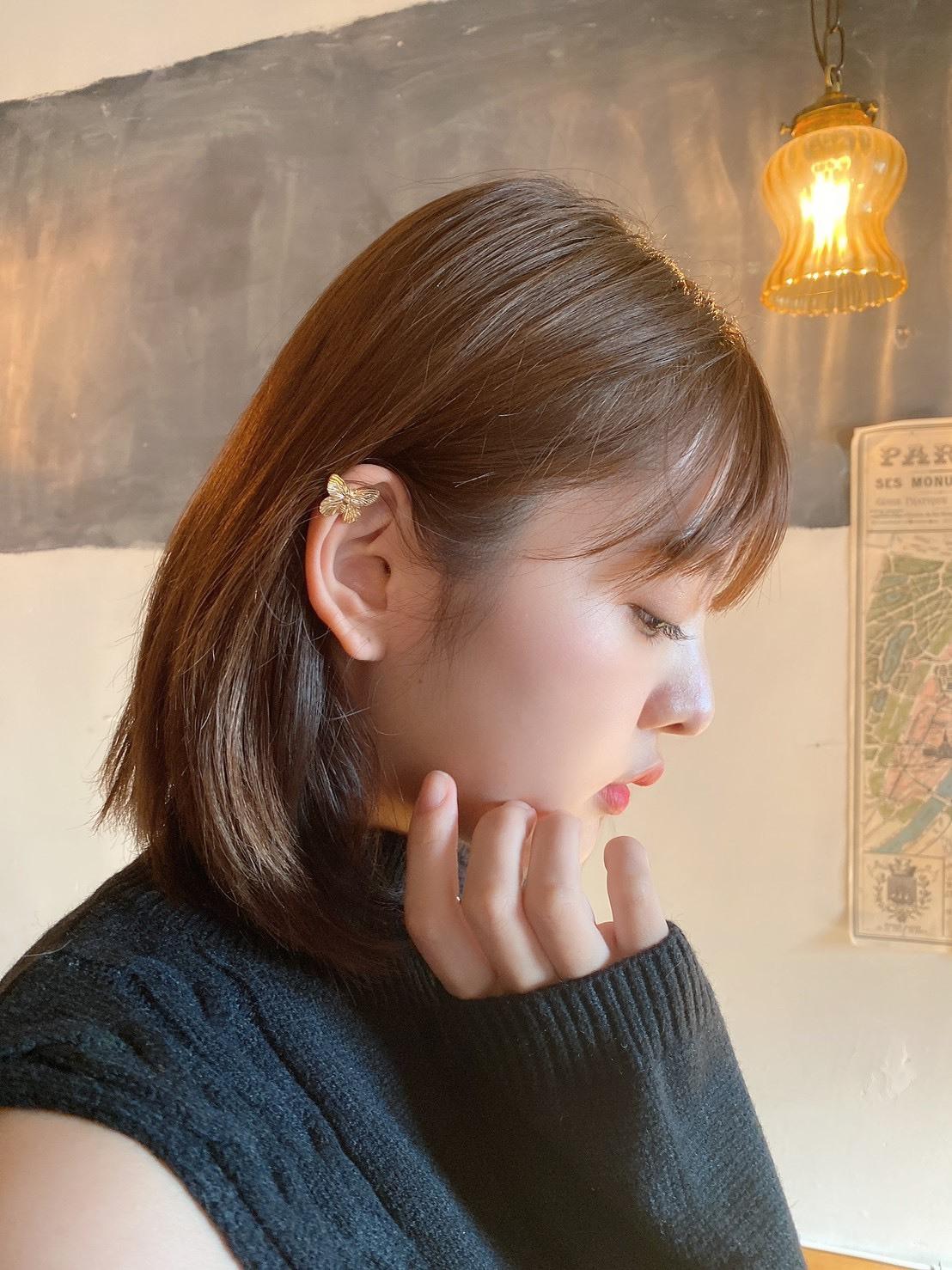 【LAST2】butterfly ear cuff