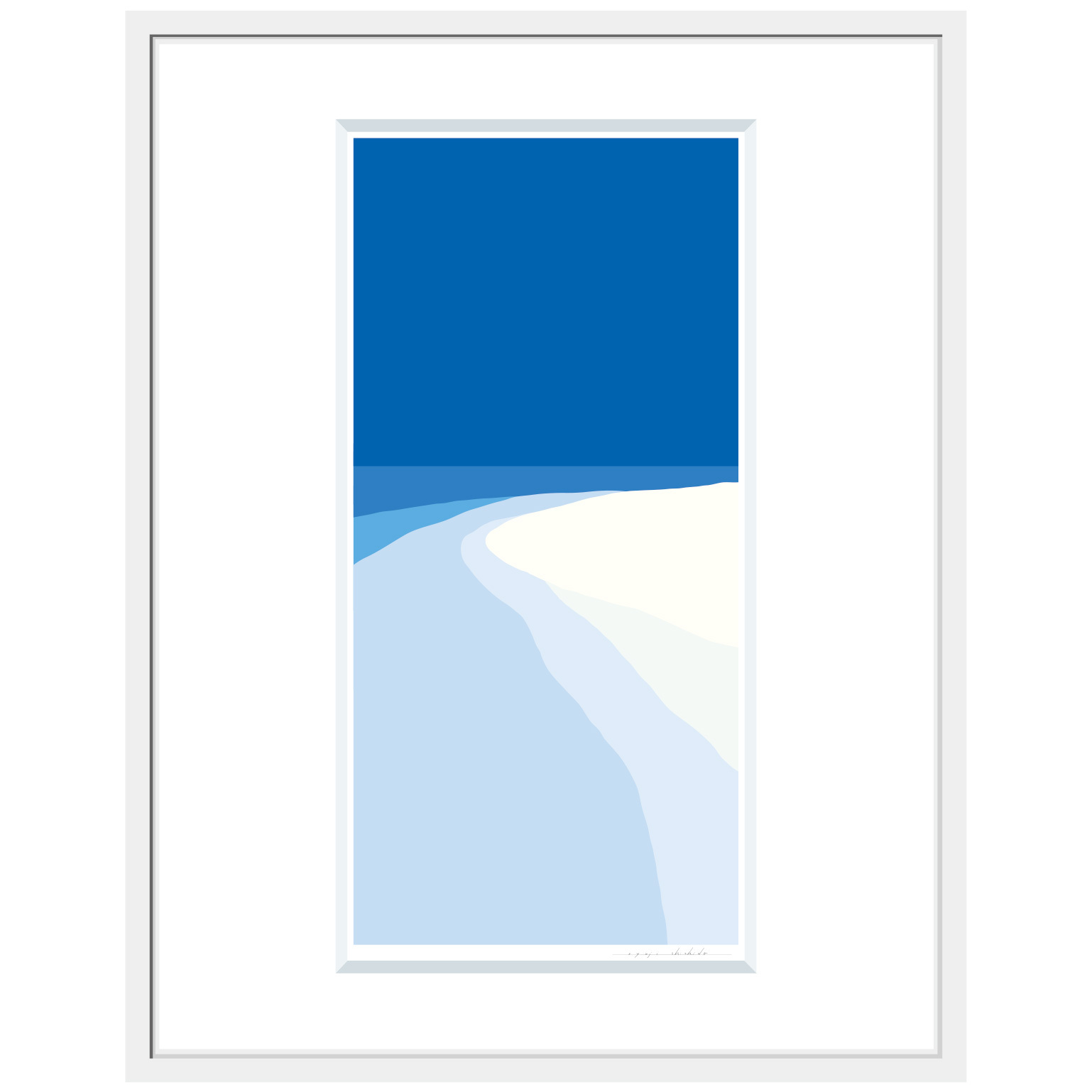 No.La-006「海の音」ジクレープリント額装 L size