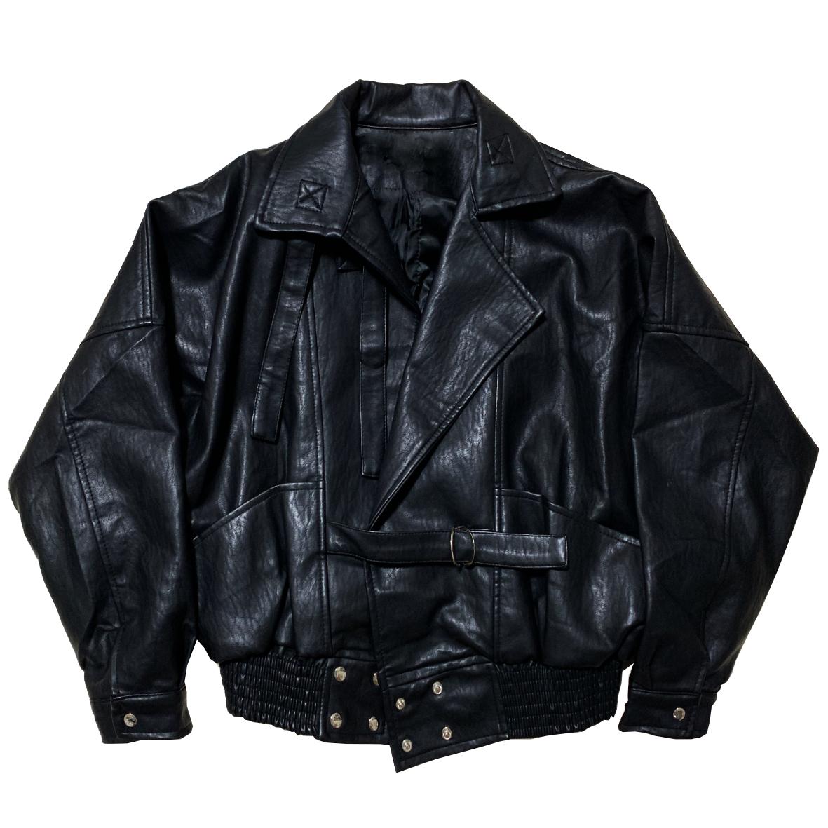 Oversize Biker Leather Jacket
