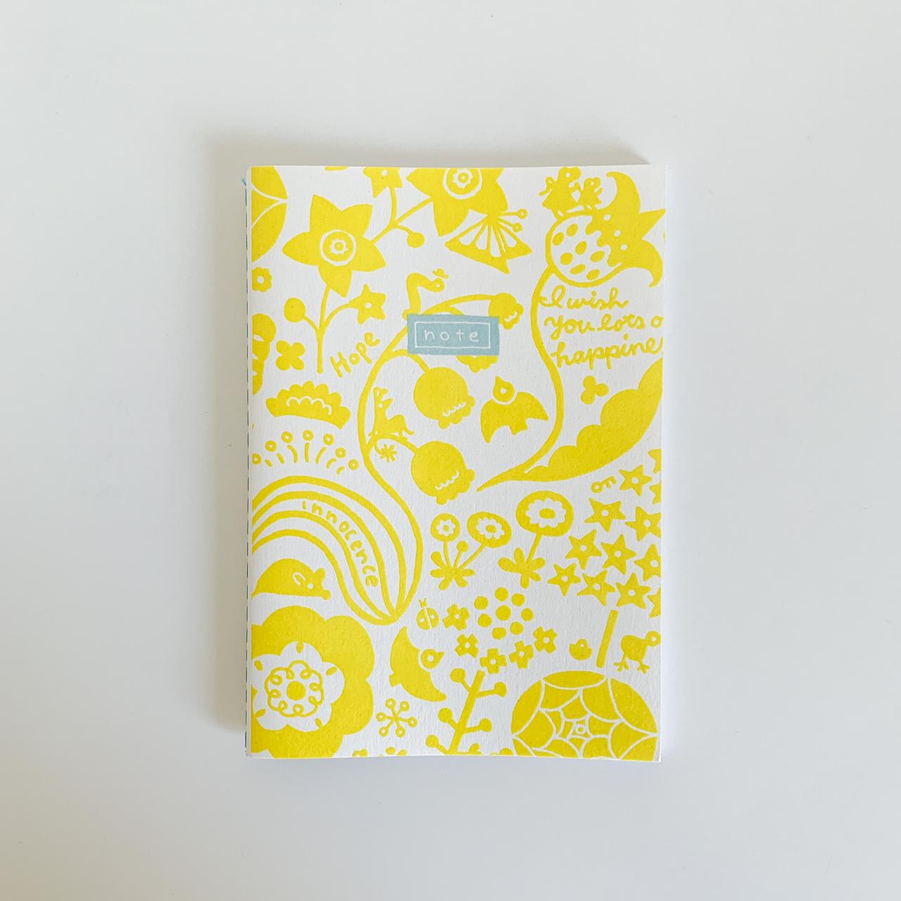 [15th special price ]心が晴れる・mini ノート ミモザイエロー