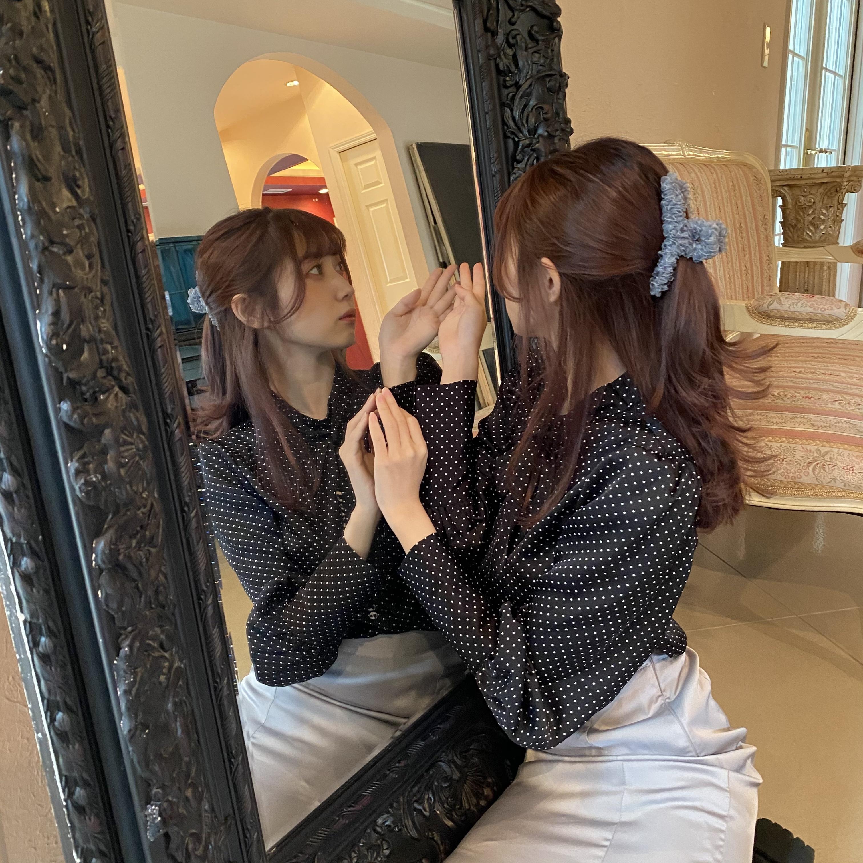 【original】ribbon blouse(dot)