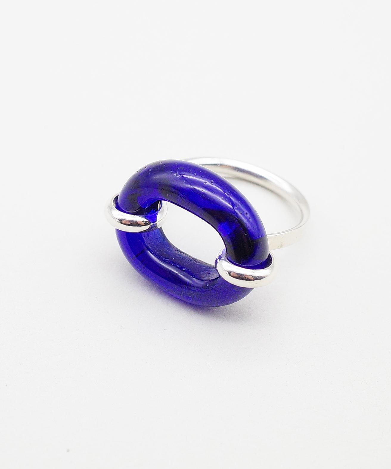 【CLED / クレッド】IN THE LOOP Ring / リング / Sterling silver×Blue Ocean
