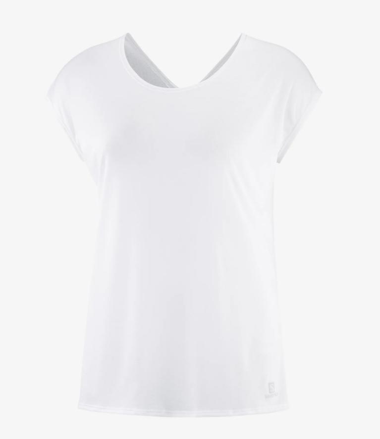 Salomon サロモン XA SHORT SLEEVE TECH TEE W White ウィメンズ/レディース XA ショートスリーブテックTシャツ ホワイト LC1539700【Tシャツ】