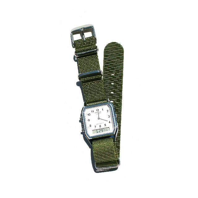CASIO BASIC WATCH DIGI-ANA 04 / NATO-type Strap / Khaki