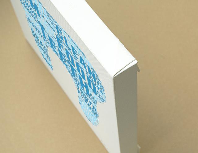Typography キャンバスプリント(B3サイズ・木製パネル貼り)