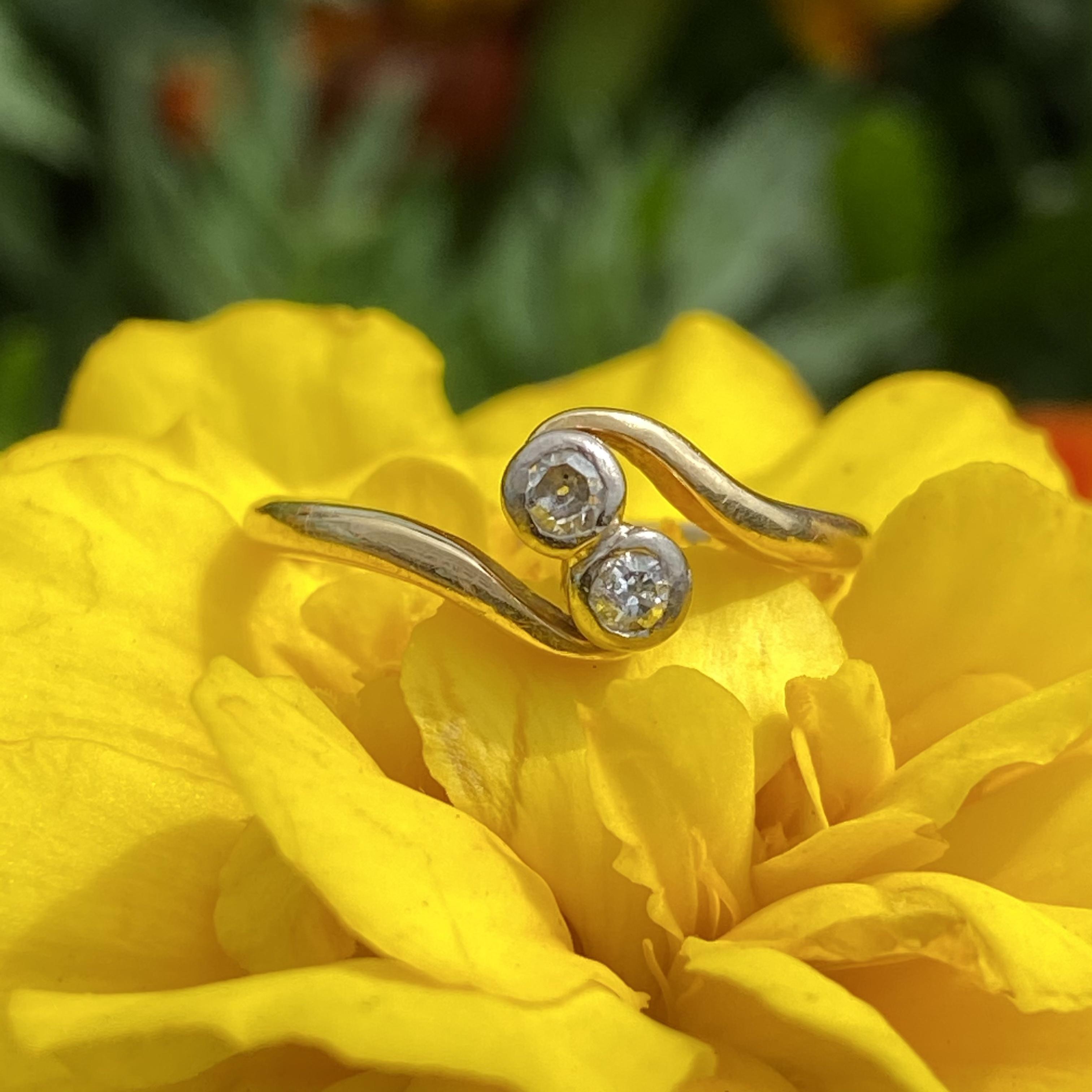 イギリスC1890−1910★オールドカットダイヤモンド トワエモアリング