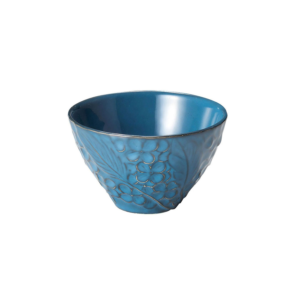 「リアン Lien」ボウル 皿 直径約11×深さ7cm M ブルー 美濃焼 267814