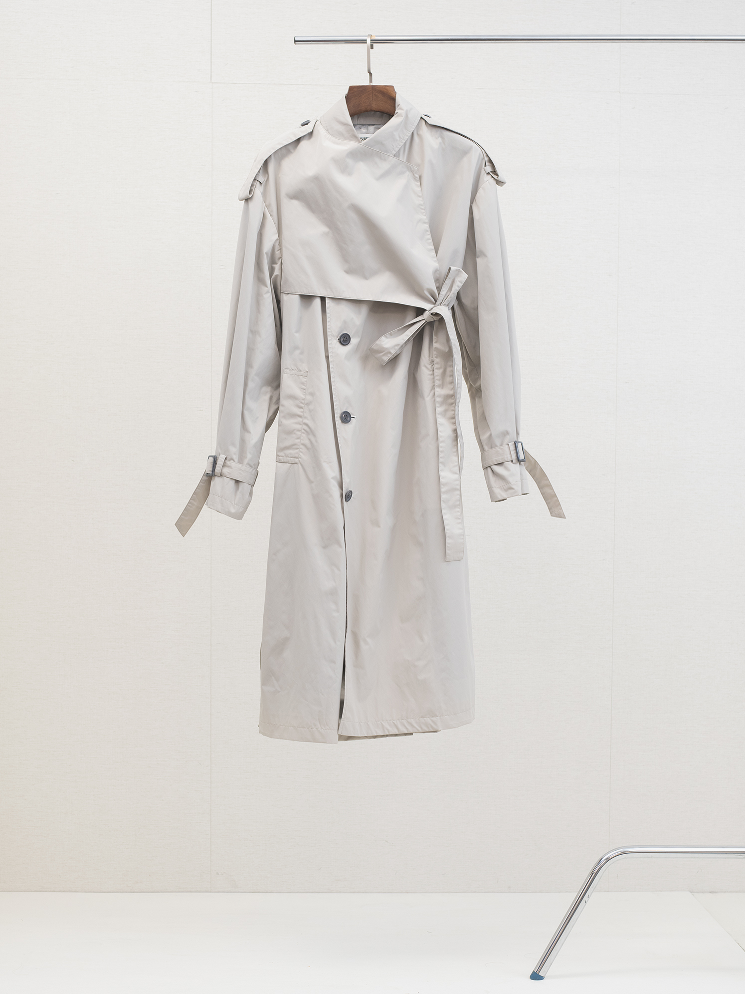 Belted Trench Coat Nylon