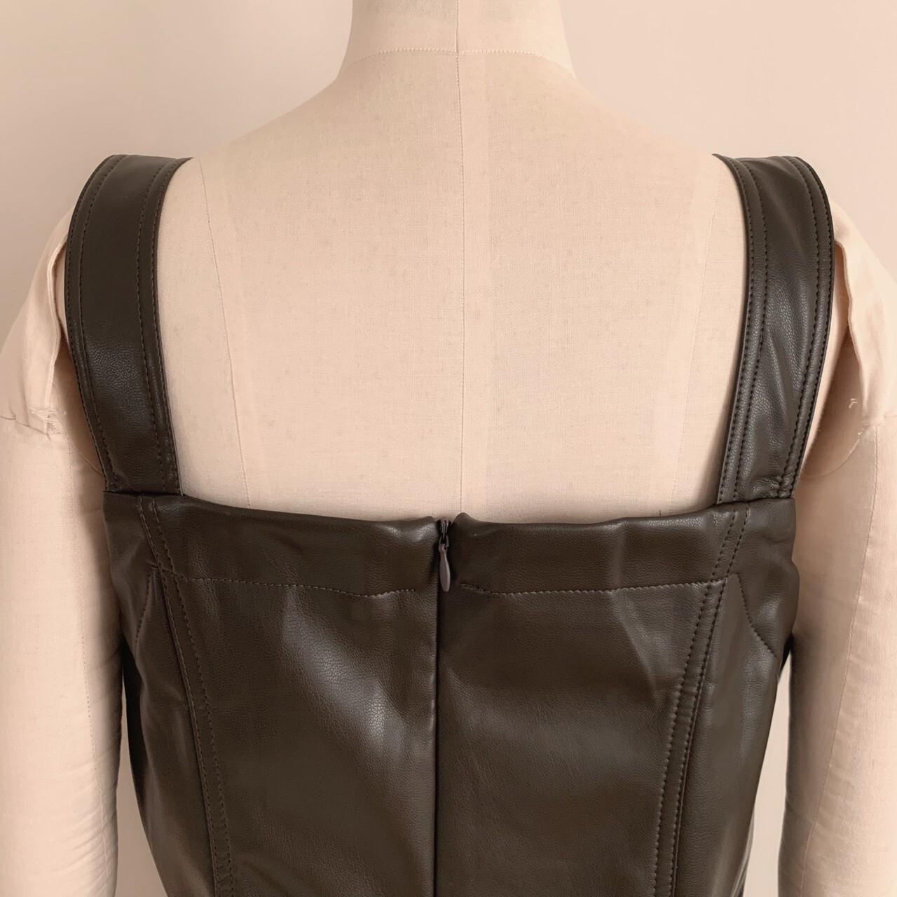 【meltie】leather bustier one-piece