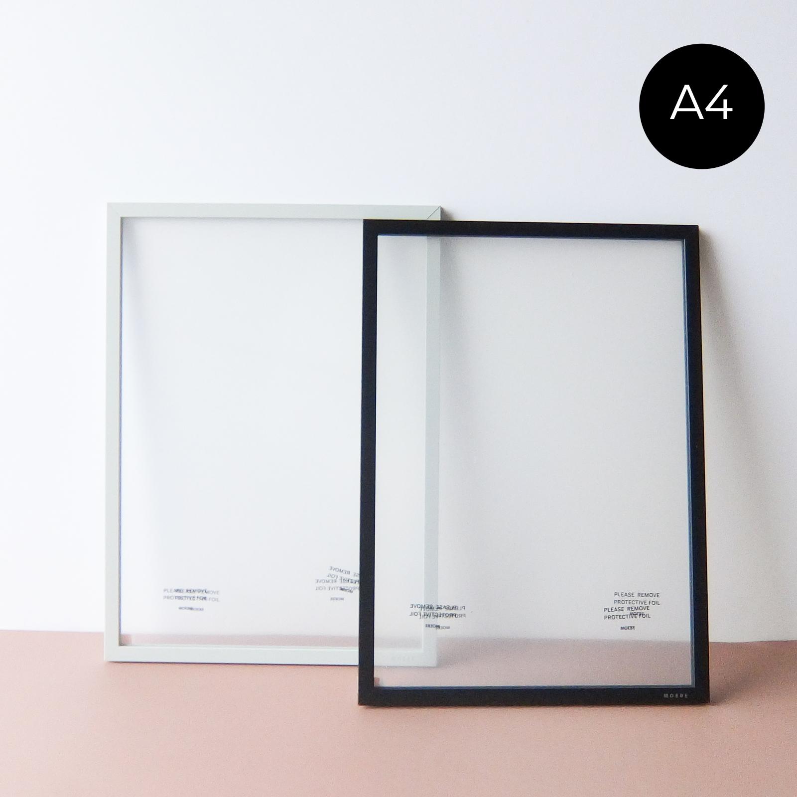 MOEBE - A4 ムーべ アートフレーム - Light Grey / Black / Oak