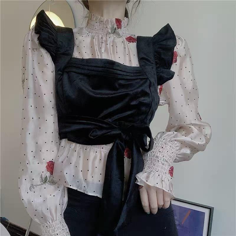 rose dot blouse 2peace