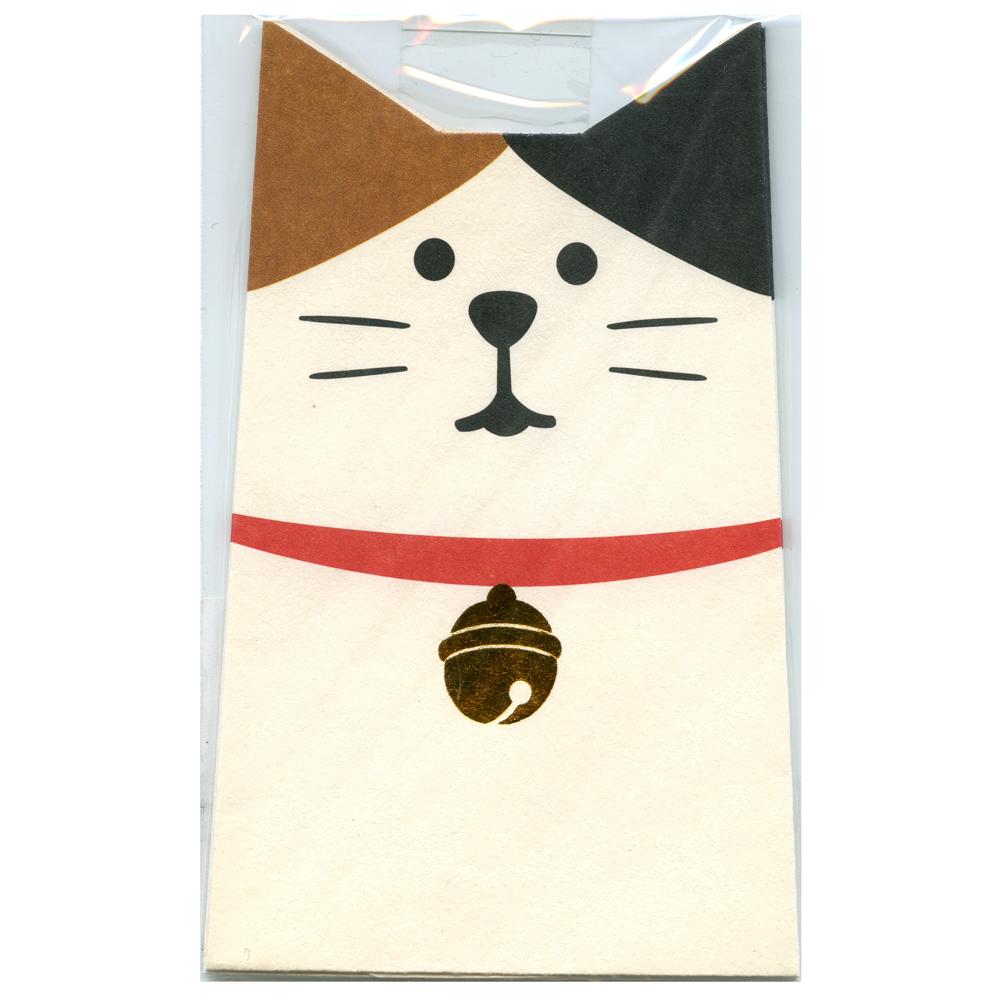 猫ぽち袋(三毛猫めでたぽち袋)