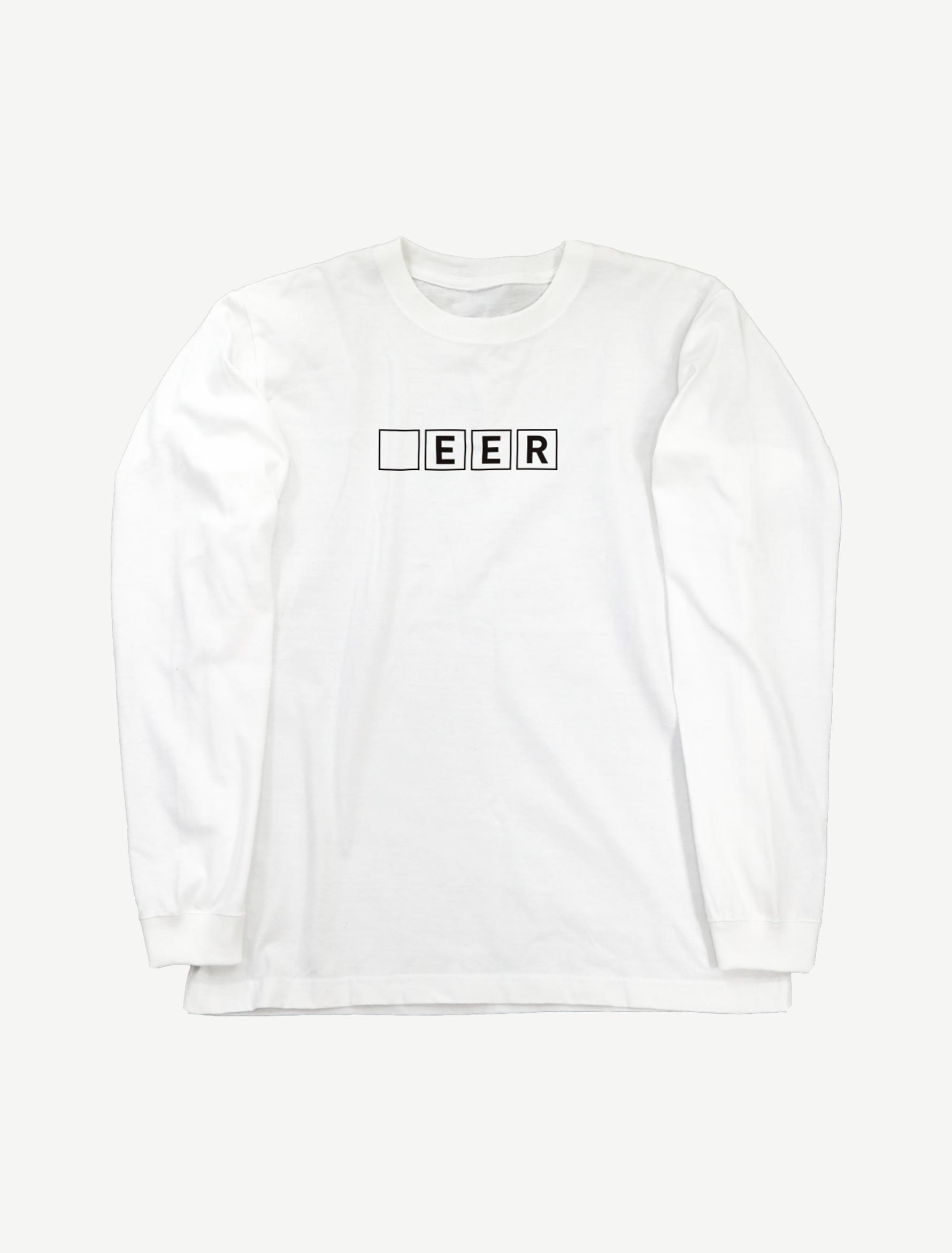 【□EER】ロングスリーブTシャツ(ホワイト)