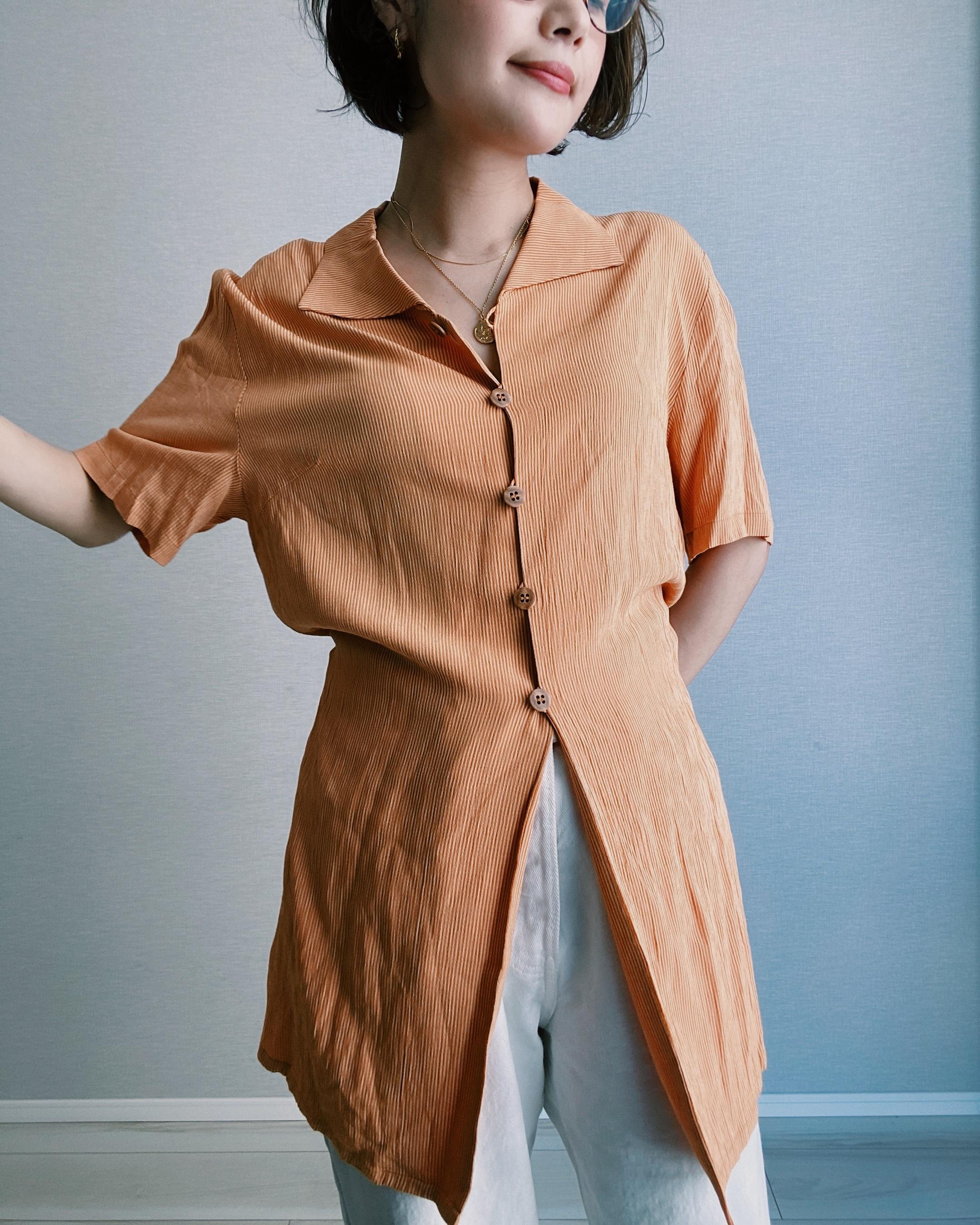 (SH222)2way rayon shirt