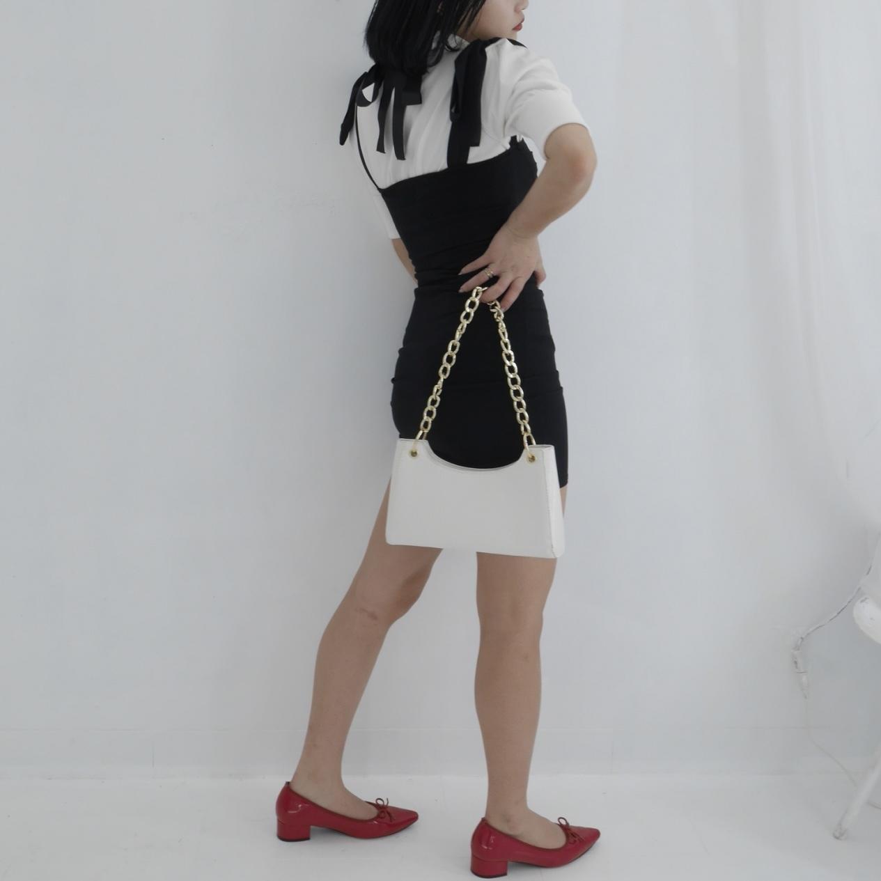 【Belle】puff back ribbon knit / ivory