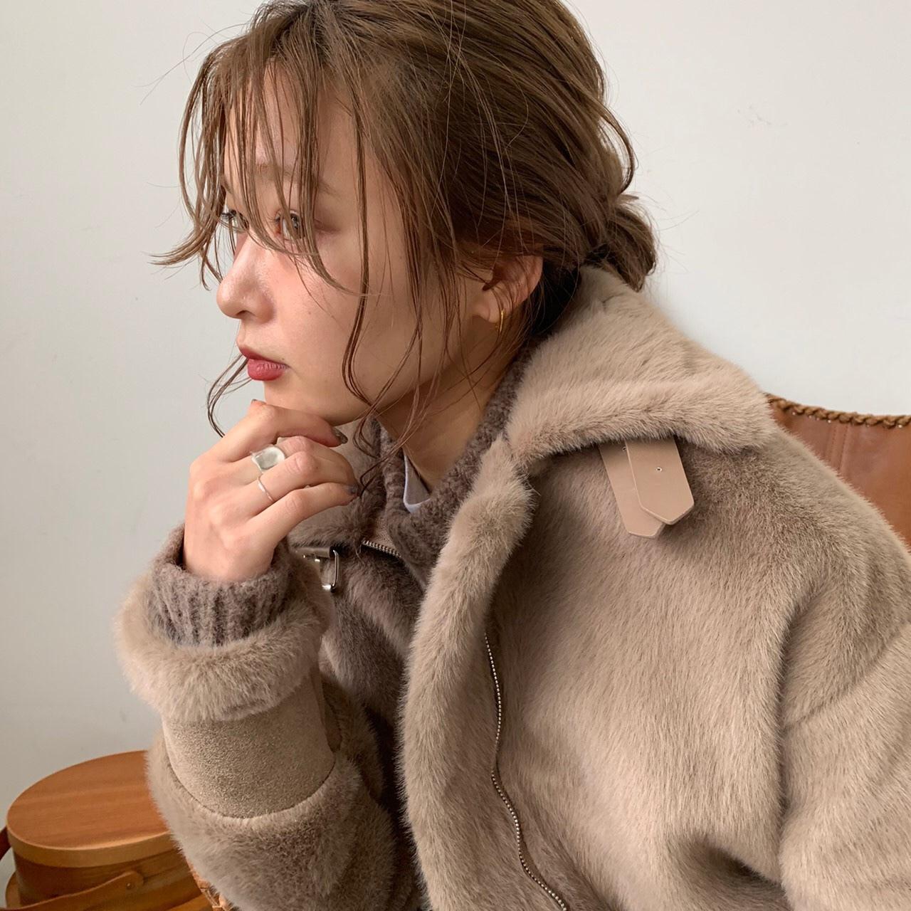 Fur flight jacket