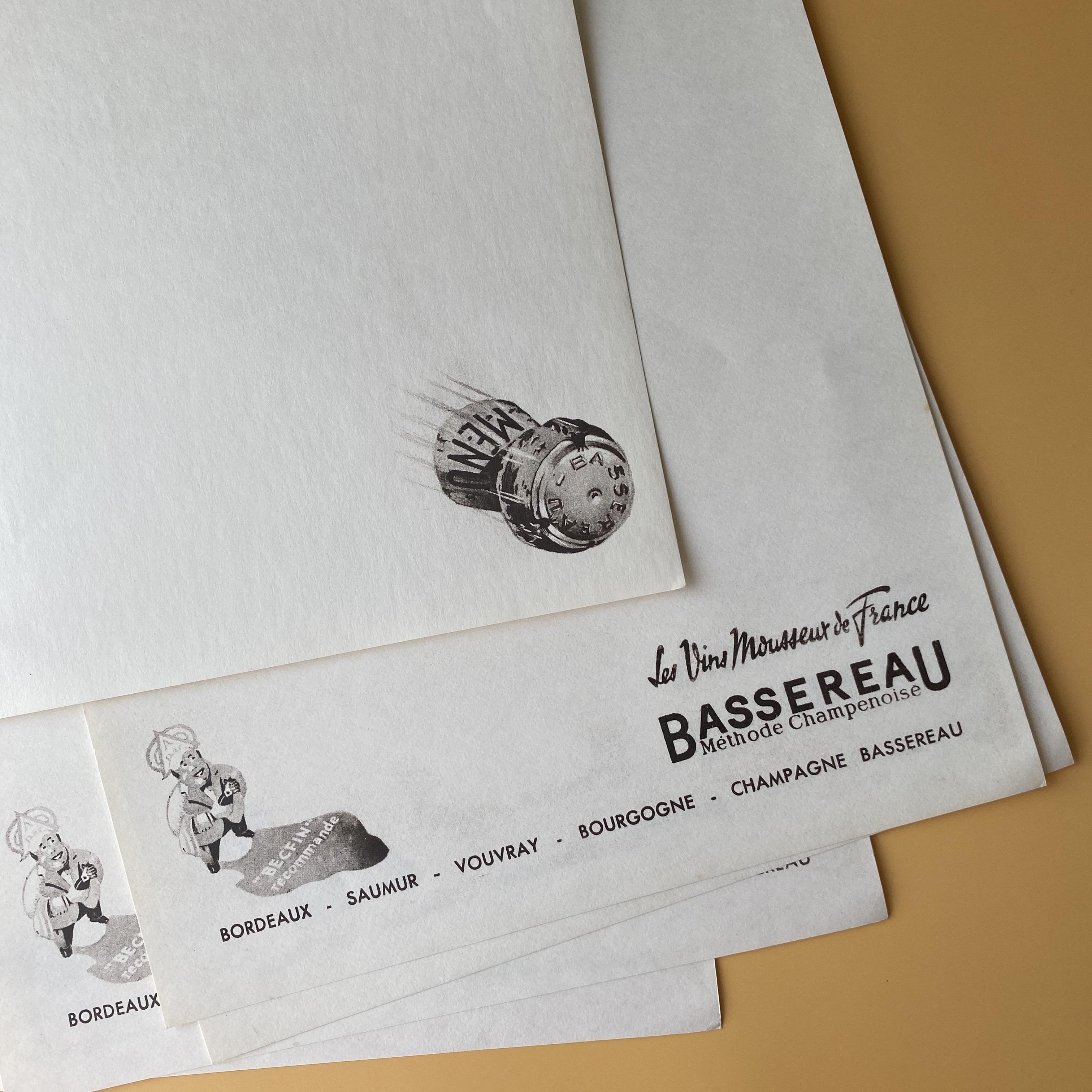 メニューシート(BASSEREAU)/ vp0067