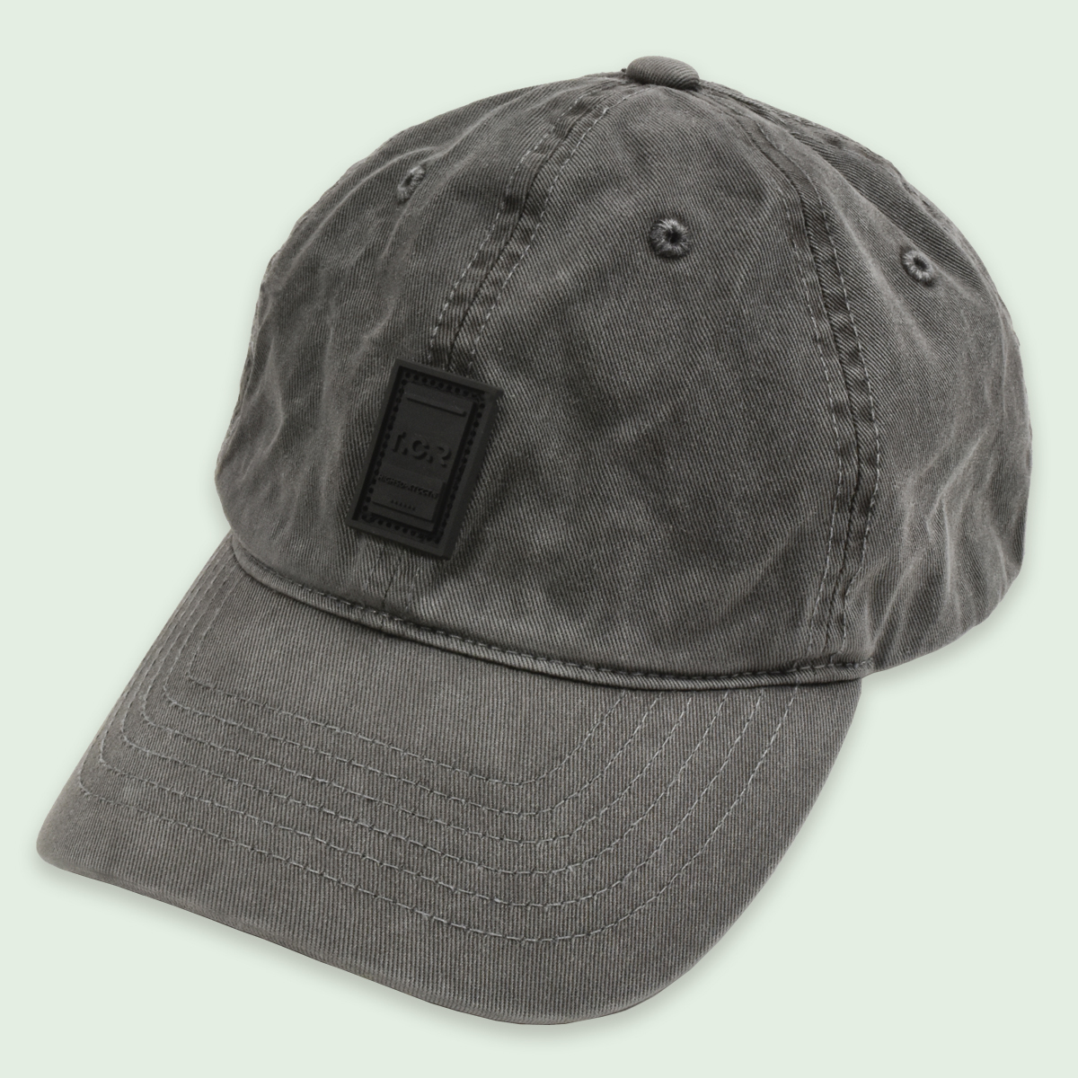 RUBBER LOGO WASHED CAP - GRAY