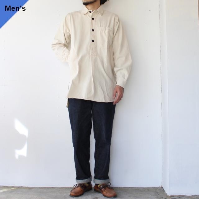 【再入荷】Yarmouth Oilskins ワーカーシャツ The Worker Shirt ナチュラル