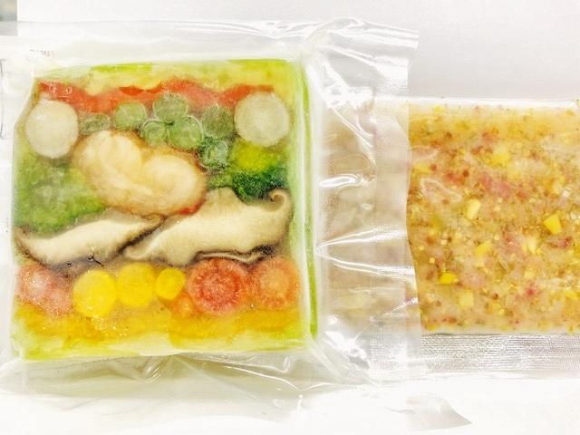 カナダ産オマール海老と8種の旬野菜テリーヌ【100g】 南青山特製ラヴィゴットソースつき