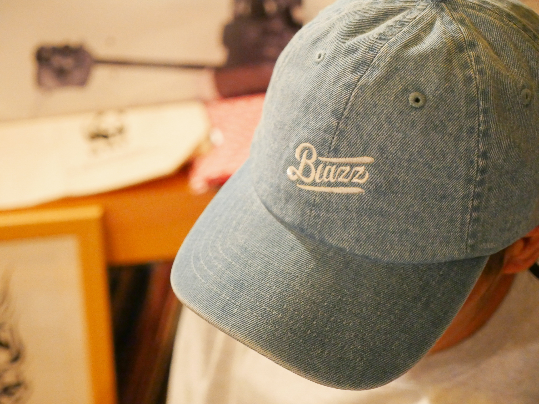 MINI LOGO DENIM WASH CAP [BRIGHT BLUE]