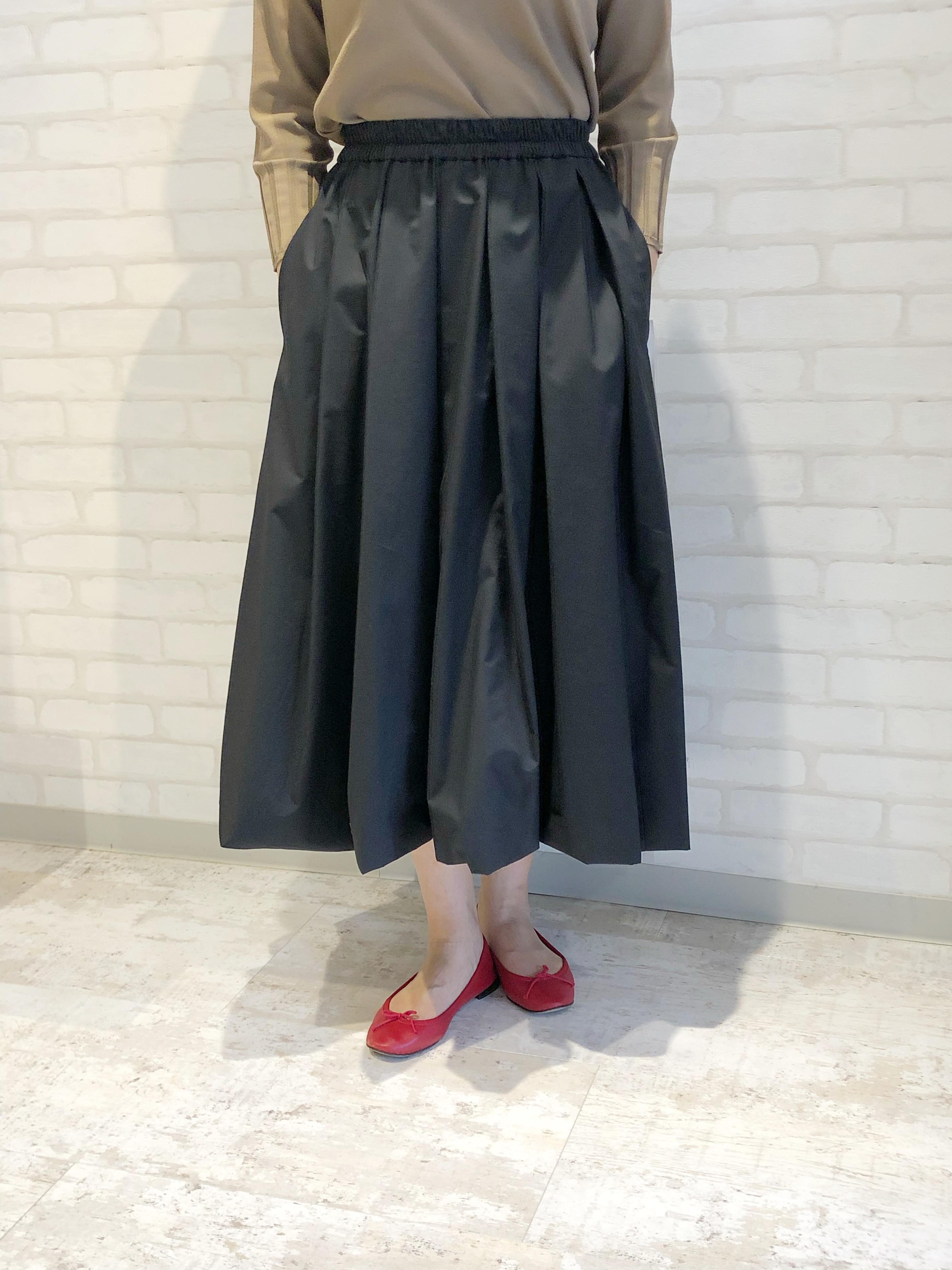 MidUmi/01505/バルーンスカート(ブラック)