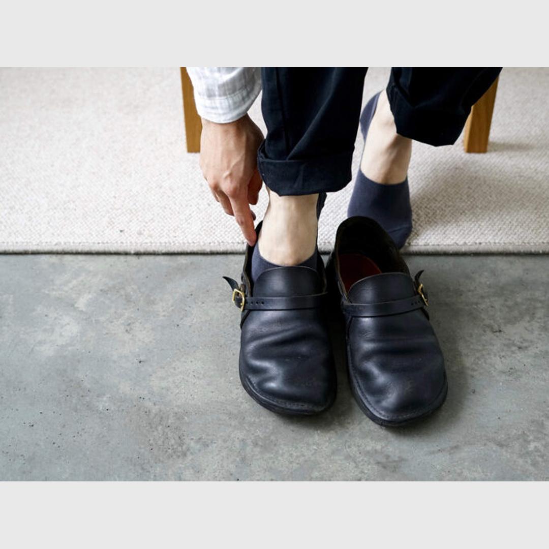 NISHIGUCHI KUTSUSHITA 西口靴下 NK0302 ハイツイストコットンフットカバー M