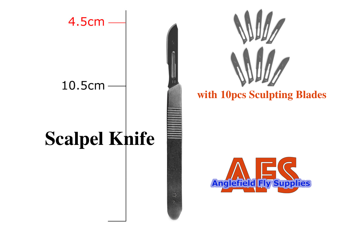 Surgical Knife with 10pcs. Blades / サージカル メス (ブレード 10枚付き)