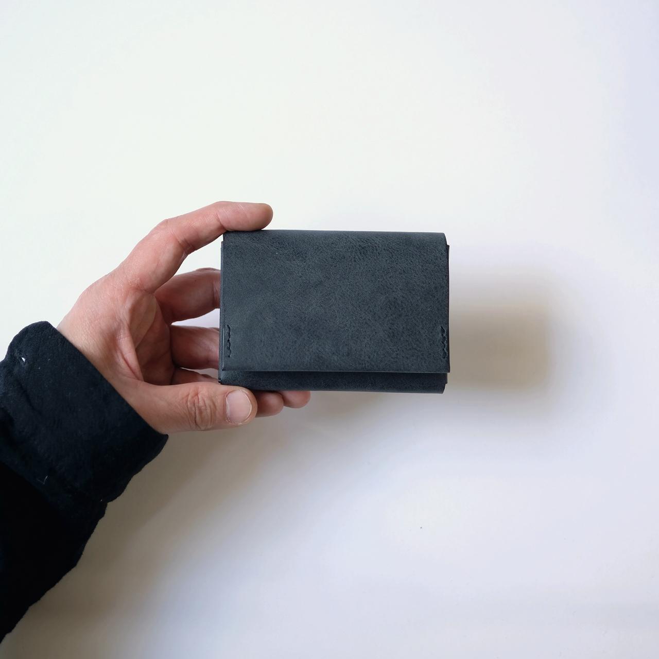flat wallet - bk - nebbia