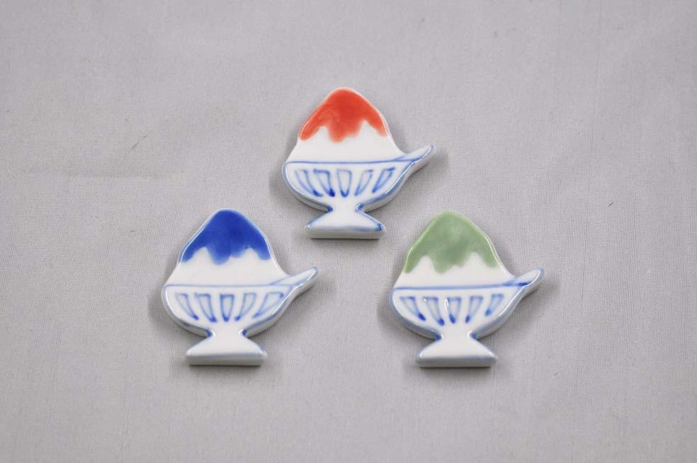 夏の氷 箸置き  3colors
