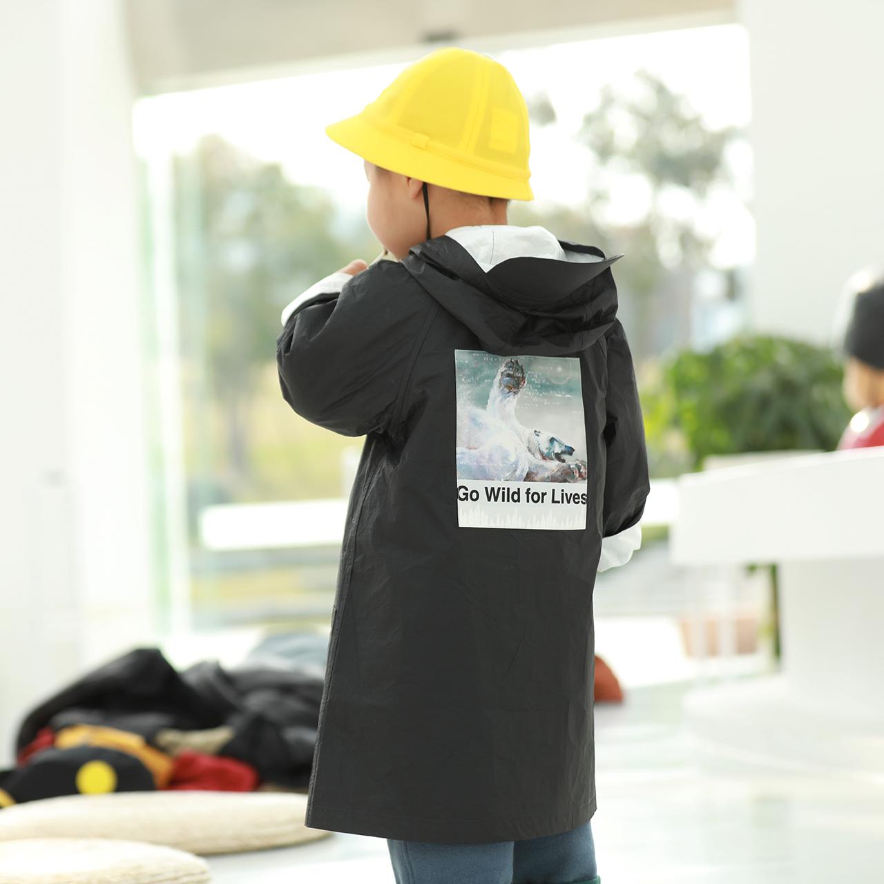 【予約商品】 【タイベック】 ダスターコート 子供用 黒
