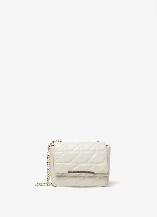 QUILTED LEATHER FLAPPED BAG