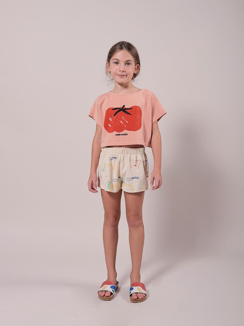 BOBO CHOSES ボボショセス Playground All Over Terry Fleece Shorts size:2-3Y(95-100)~8-9Y(125-135)