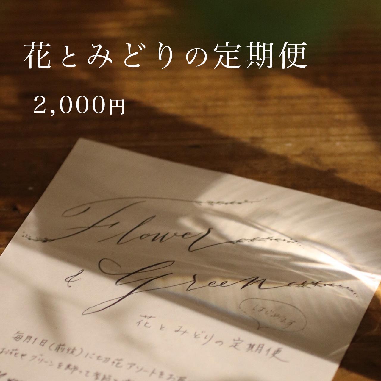 花とみどりの定期便「10月便」【2,000円コース】