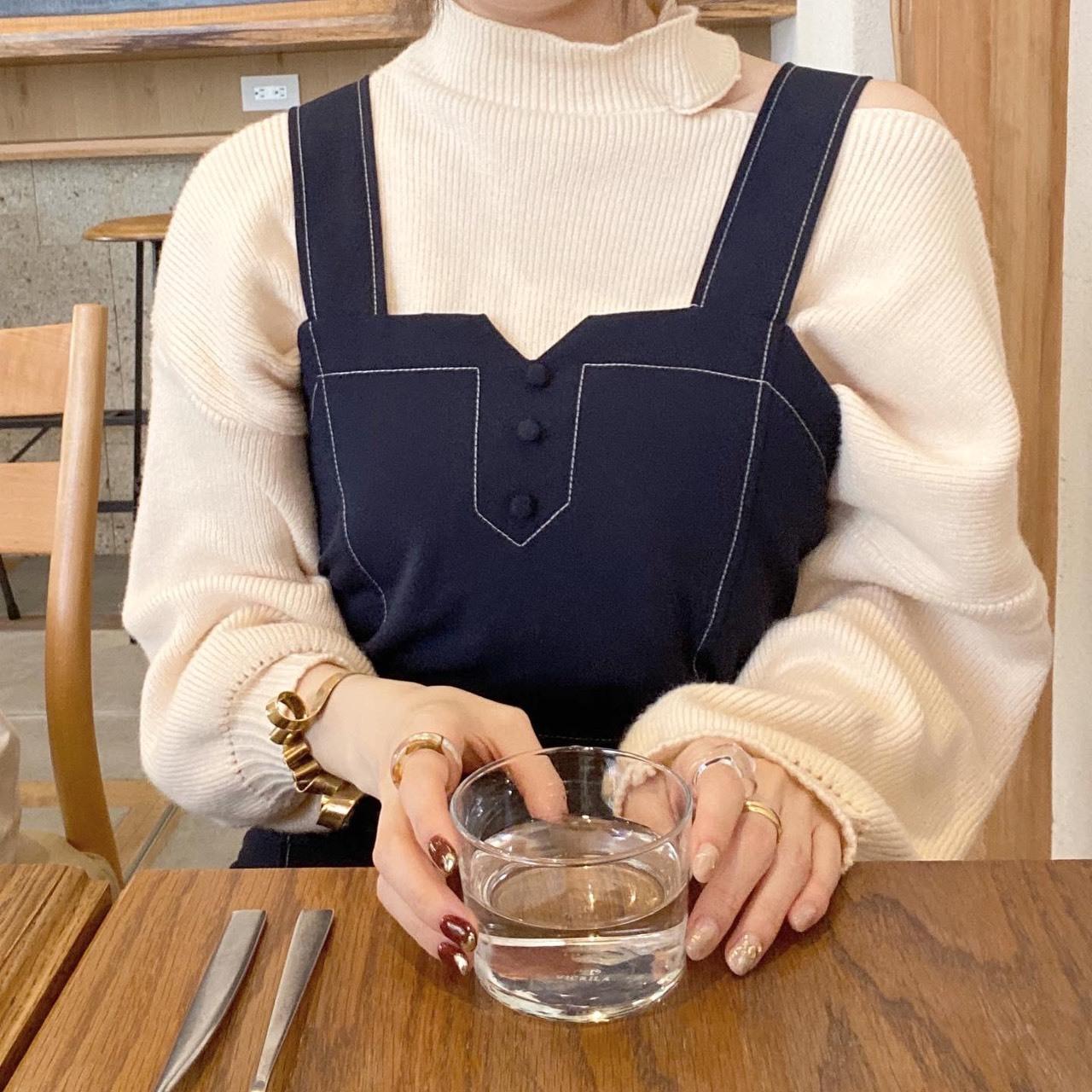 【suzuka select】stitch design one-piece